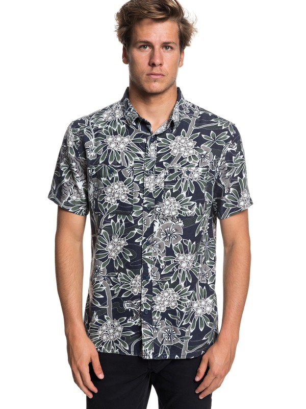 0 Camisa Manga Curta Silent Fury SS Quiksilver  BR62281340 Quiksilver
