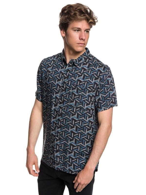 0 Camisa Manga Curta Variable Shirt Quiksilver  BR62281341 Quiksilver