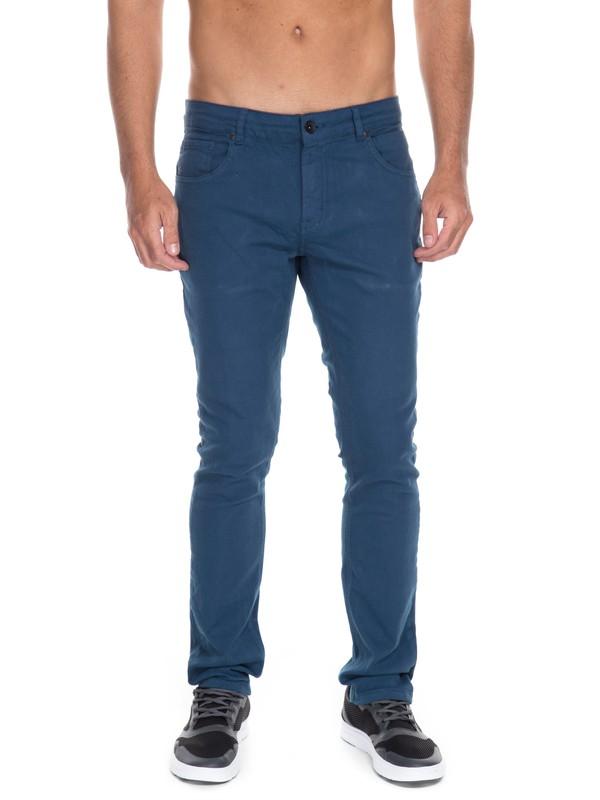 0 Calça Jeans Street Color Quiksilver Azul BR63331593 Quiksilver