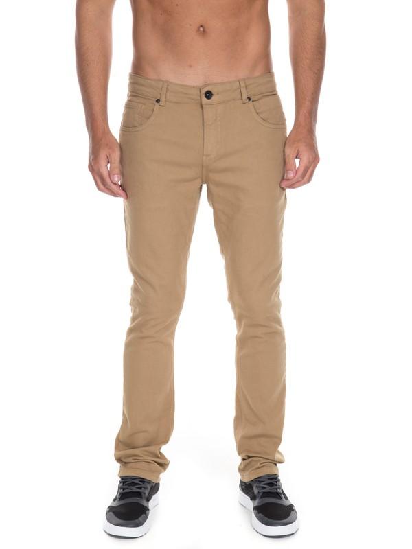 0 Calça Jeans Street Color Quiksilver Beige BR63331593 Quiksilver