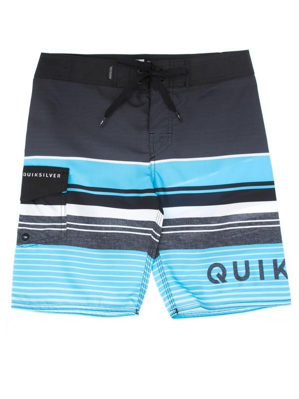 0 Bermuda Boardshort Juvenil Everyday Prints Quiksilver Azul BR67011413 Quiksilver