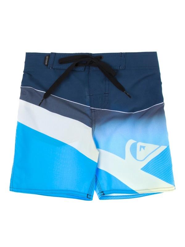 0 Bermuda Boardshort Infantil Slash Fade Quiksilver Azul BR67011422 Quiksilver