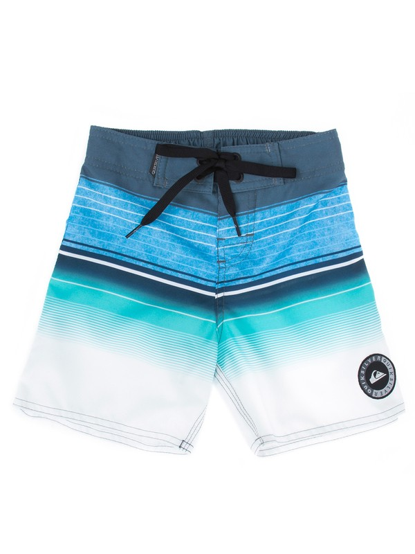 0 Bermuda Boardshort Infantil Swell Vision Quiksilver Azul BR67011424 Quiksilver