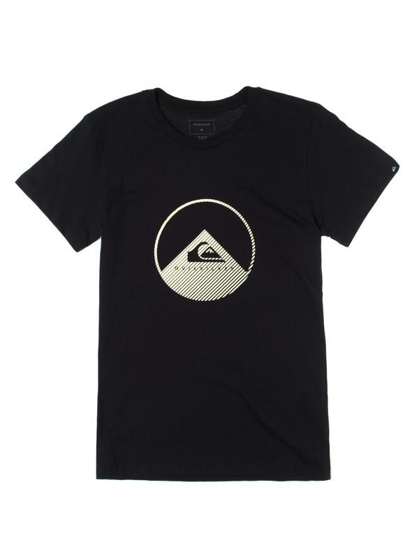 0 Camiseta Manga Curta Juvenil Brilha no Escuro Glows Dark Quiksilver Preto BR68112083 Quiksilver