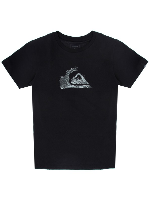 0 Camiseta Juvenil Japan Logo Quiksilver Preto BR68112117 Quiksilver