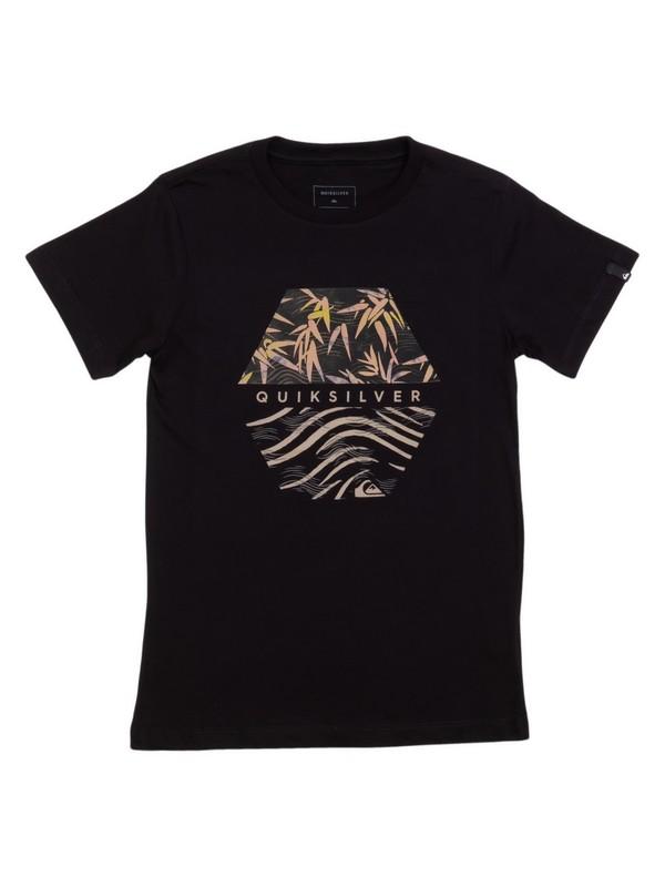0 Camiseta Juvenil Bamboo Breakfast Quiksilver Preto BR68112123 Quiksilver