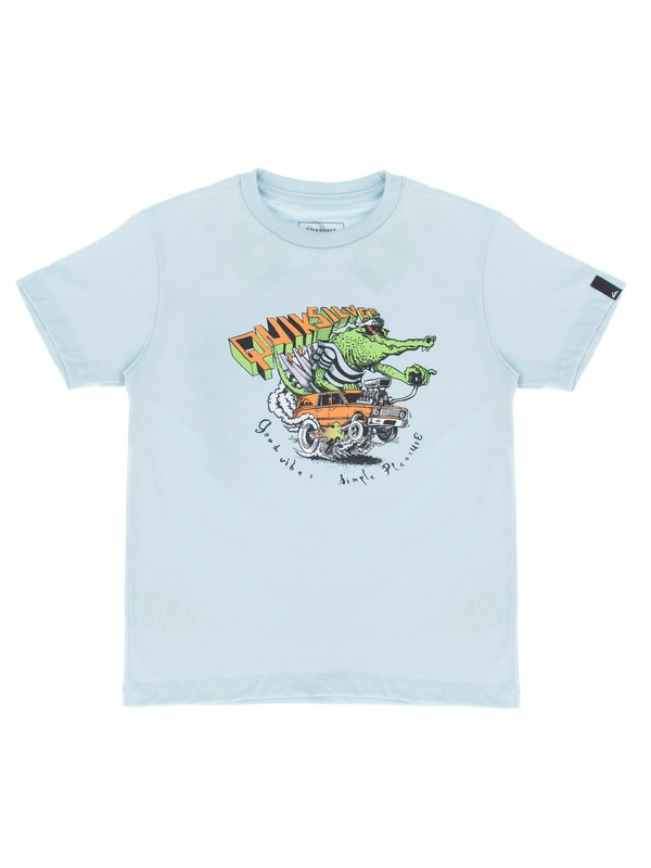 0 Camiseta Infantil Ska Kids Quiksilver Azul BR68112137 Quiksilver