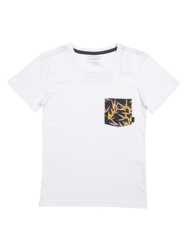 0 Camiseta Juvenil Filter Logo Quiksilver Branco BR68141319 Quiksilver