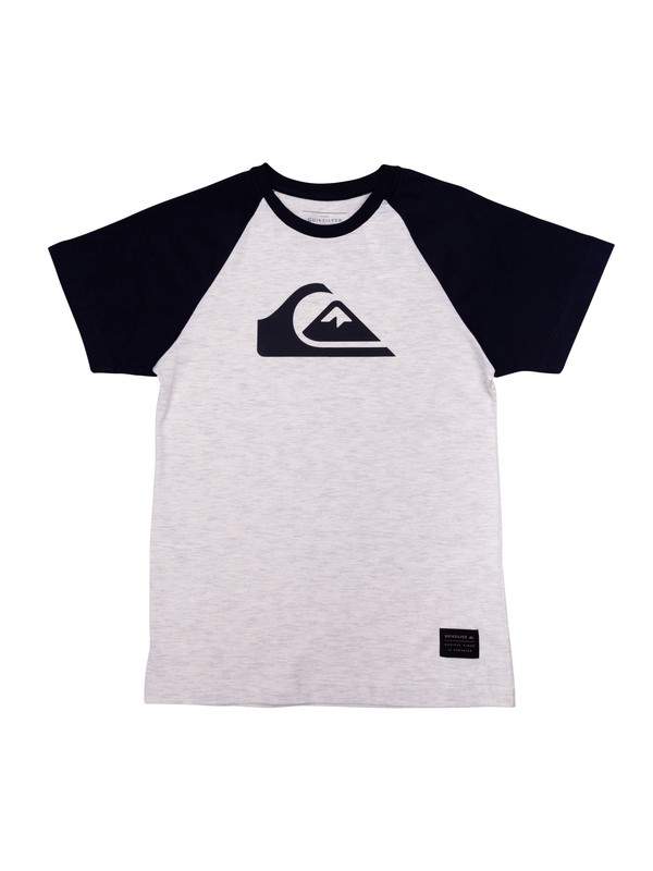 0 Camiseta Juvenil Raglan Logo Quiksilver  BR68141321 Quiksilver