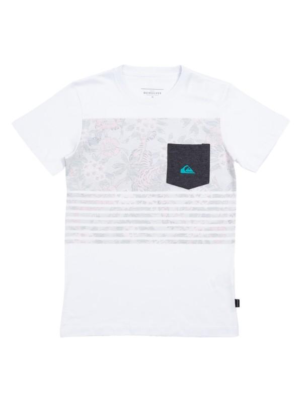 0 Camiseta Juvenil Silent Fury Boys Quiksilver Branco BR68141324 Quiksilver
