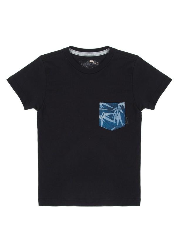 0 Camiseta Infantil Filter Logo Quiksilver Preto BR68141329 Quiksilver
