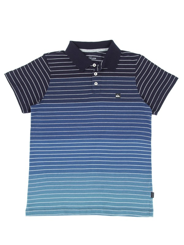 0 Camiseta Polo Juvenil Apac Quiksilver Azul BR68161089 Quiksilver