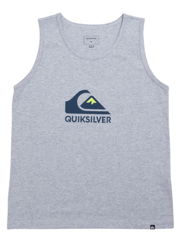 0 Camiseta Regata Juvenil Vice Versa Quiksilver Cinza BR68231168 Quiksilver