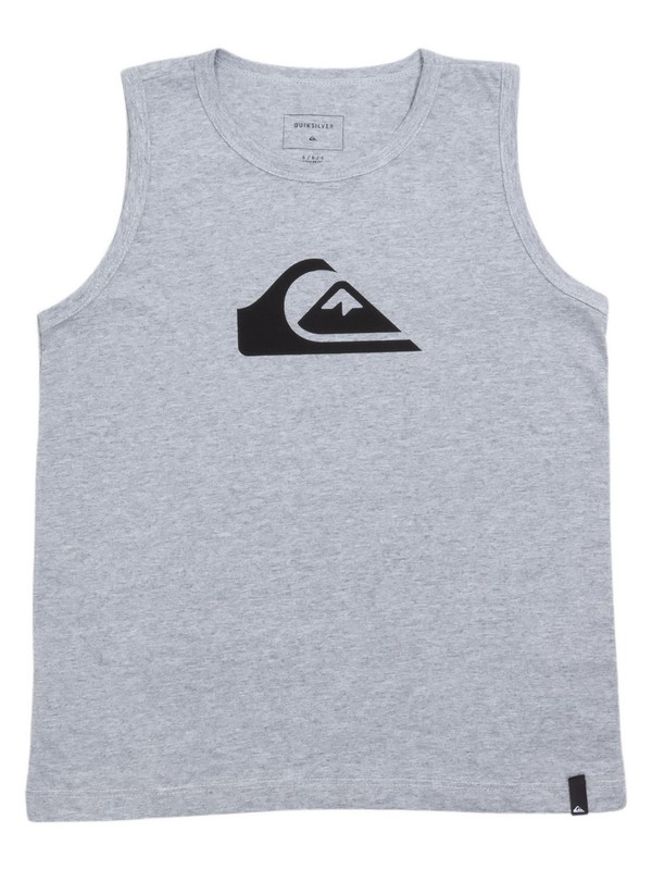 0 Camiseta Regata Infantil Básica Quiksilver Cinza BR68231174 Quiksilver