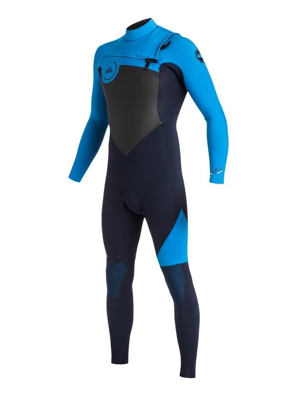 0 Wetsuit Long John 3/2mm Syncro Series Vedado c/ Zíper Frontal Quiksilver Azul BR79020111 Quiksilver