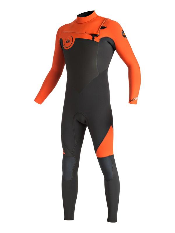 0 Wetsuit Long John 3/2mm Syncro Series Vedado c/ Zíper Frontal Quiksilver Laranja BR79020111 Quiksilver
