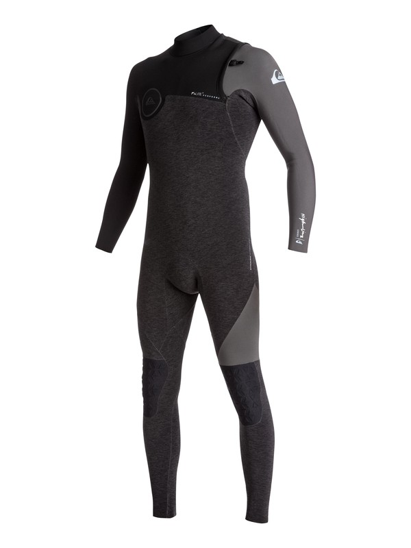 0 Wetsuit Long John 2/2mm Highline Series Vedado s/ Zíper Quiksilver Preto BR79020120 Quiksilver