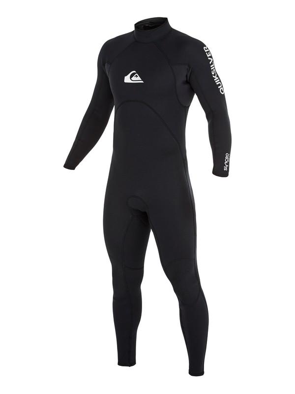 0 Wetsuit Long John 3/2mm Syncro Base c/ Zíper nas Costas Quiksilver Preto BR79020124 Quiksilver