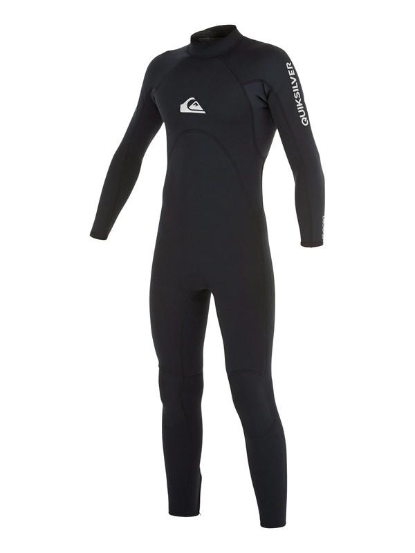 0 Wetsuit Long John 3/2mm Syncro Base Boy c/ Zíper nas Costas Quiksilver Preto BR79020128 Quiksilver