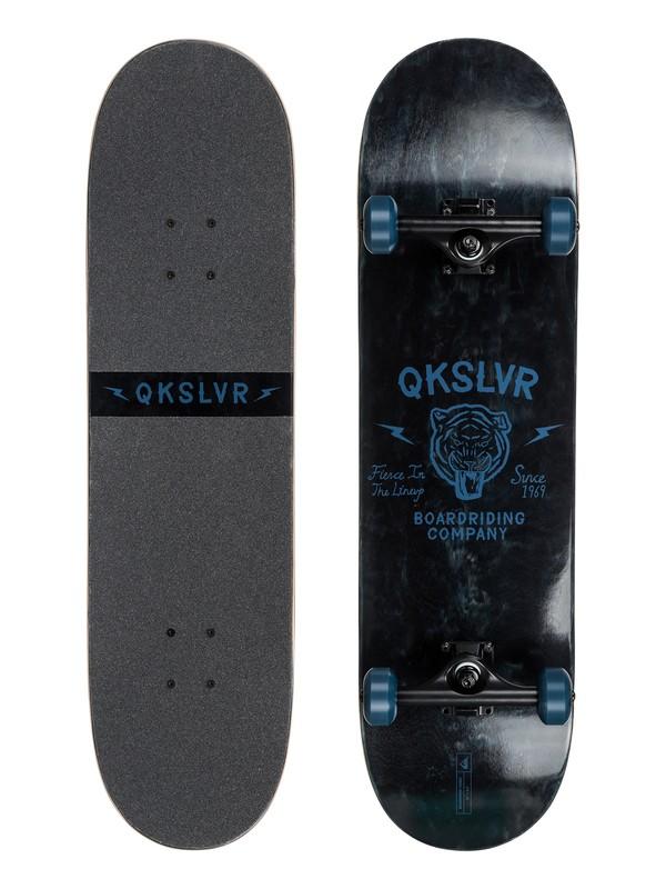 "0 Boardrider Tigris - 8.5"" Bowl Street Skateboard - Complete Black EGL0TIGRIS Quiksilver"