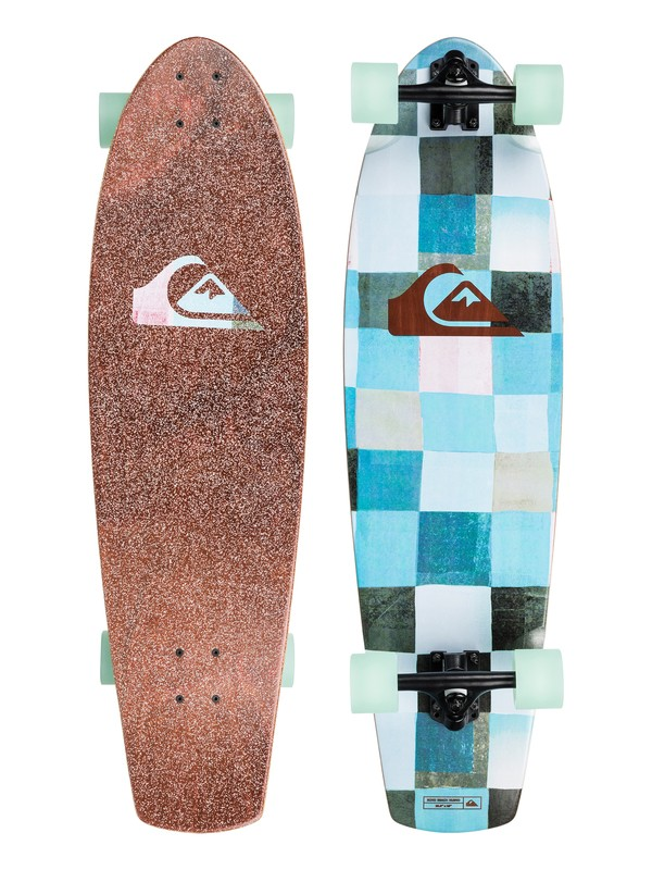 "0 Echo Beach Nuevo 35.5"" Mid Size Cruiser Skateboard Complete Blue EGLEBNUEVO Quiksilver"