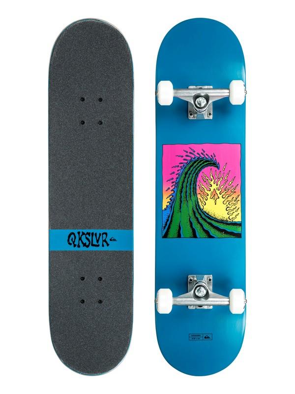 "0 Kanagawa 7.8"" Skateboard Complete Blue EGLKANAG78 Quiksilver"
