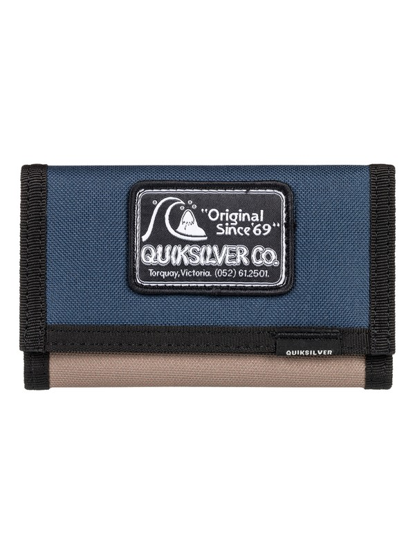 0 The Everydaily - Tri-Fold Wallet Blue EQBAA03068 Quiksilver