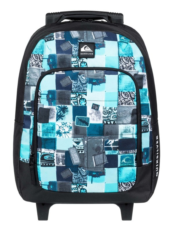 0 Boy's 8-16 Wheelie Burst 26L Wheeled Backpack Blue EQBBP03035 Quiksilver