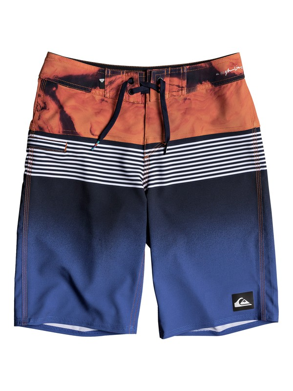 "0 Boy's 8-16 Highline Lava Division 19"" Boardshorts  EQBBS03232 Quiksilver"