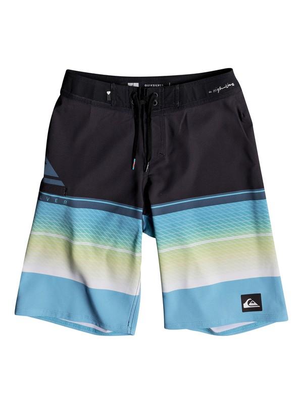 "0 Boy's 8-16 Highline Slab 19"" Boardshorts Blue EQBBS03244 Quiksilver"