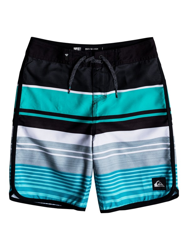 "0 Boy's 8-16 Eye Scallop 18"" Boardshorts Blue EQBBS03289 Quiksilver"
