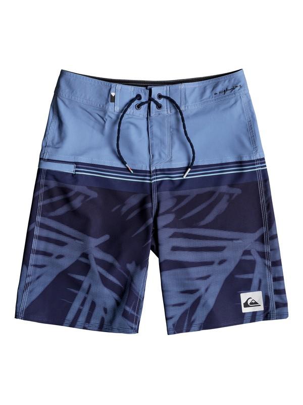 "0 Boy's 8-16 Highline Zen Division 18"" Boardshorts Blue EQBBS03306 Quiksilver"