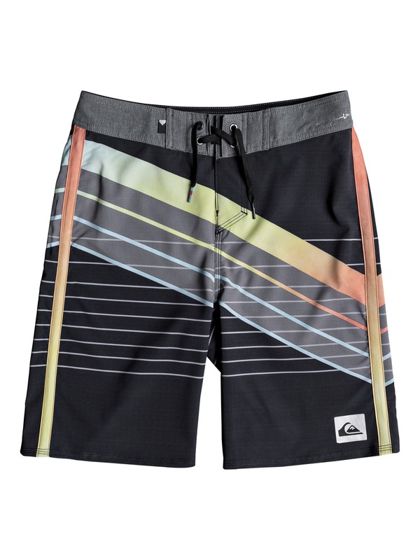 "0 Boy's 8-16 Highline Core Slash 18"" Boardshorts Black EQBBS03309 Quiksilver"