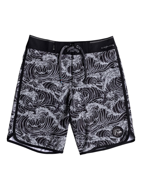 "0 Boy's 8-16 Highline Legend 17"" Boardshorts Black EQBBS03313 Quiksilver"