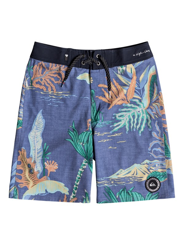 "0 Boy's 8-16 Highline Variable 18"" Boardshorts Blue EQBBS03315 Quiksilver"