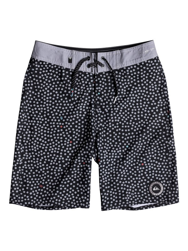 "0 Boy's 8-16 Highline Variable 18"" Boardshorts Black EQBBS03315 Quiksilver"