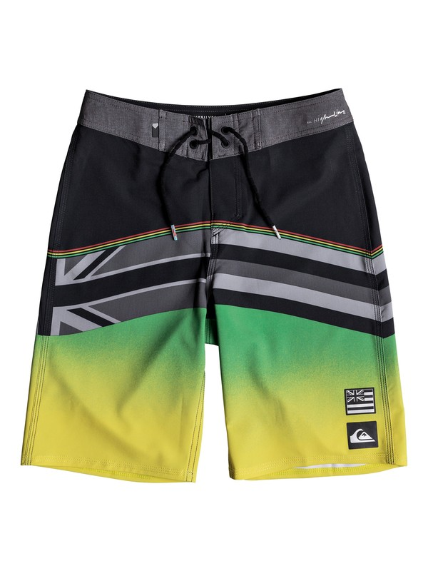"0 Boy's 8-16 Highline Hawaii Serious 19"" Boardshorts Black EQBBS03318 Quiksilver"