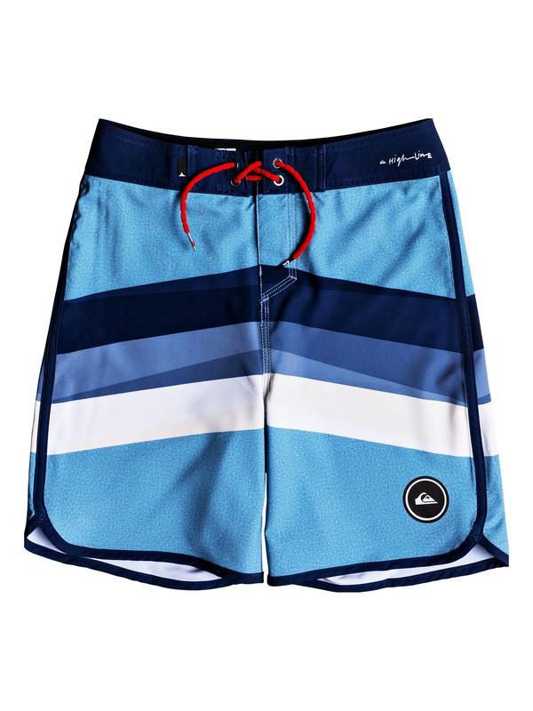 "0 Boy's 8-16 Highline Reverse 17"" Boardshorts Blue EQBBS03329 Quiksilver"