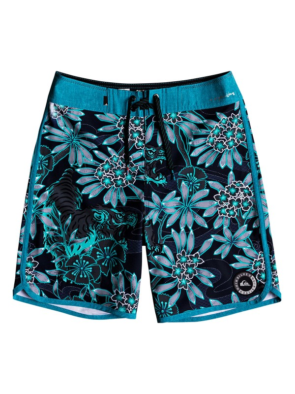 "0 Boy's 8-16 Highline Silent Fury 17"" Boardshorts  EQBBS03331 Quiksilver"
