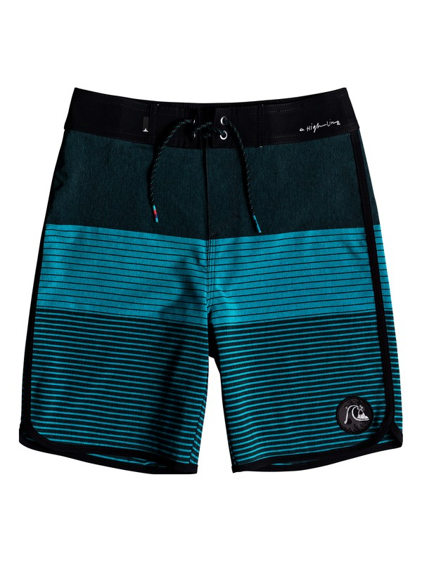 "0 Boy's 8-16 Highline Tijuana Scallop 17"" Boardshorts Blue EQBBS03332 Quiksilver"