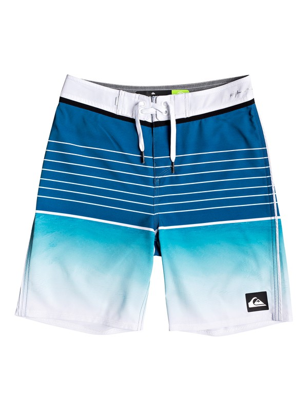 "0 Boy's 8-16 Highline Slab 17"" Boardshorts Blue EQBBS03343 Quiksilver"