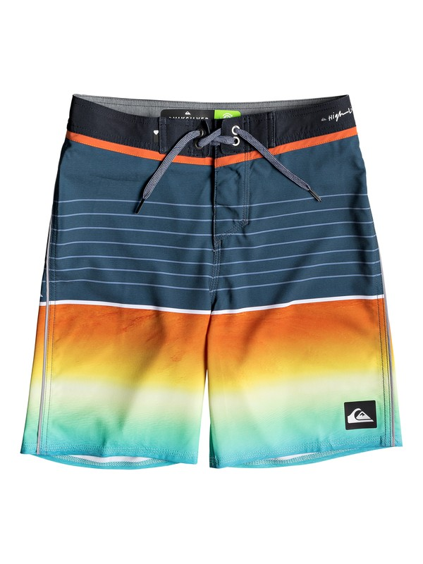 "0 Highline Slab 17"" - Board Shorts for Boys 8-16 Black EQBBS03343 Quiksilver"