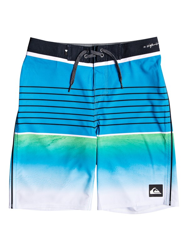 "0 Boy's 8-16 Highline Slab 18"" Boardshorts Blue EQBBS03344 Quiksilver"