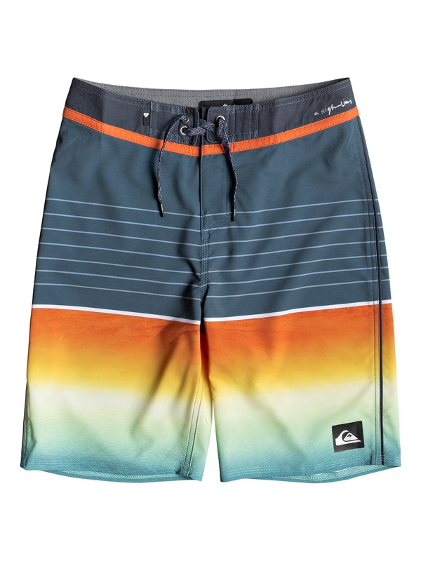 "0 Boy's 8-16 Highline Slab 18"" Boardshorts Black EQBBS03344 Quiksilver"