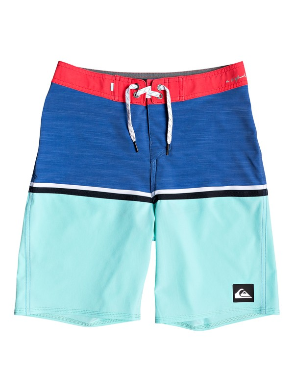 "0 Boy's 8-16 Highline Division 18"" Boardshorts Blue EQBBS03348 Quiksilver"