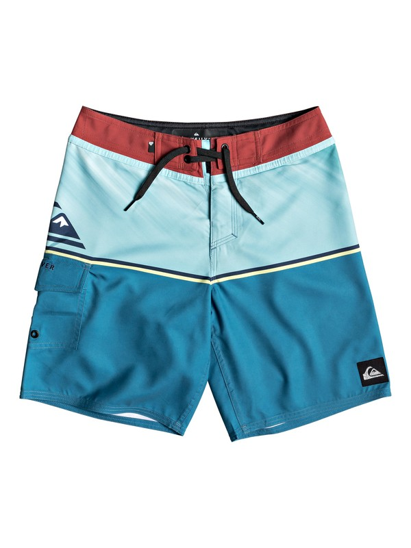 "0 Everyday Division 16"" - Board Shorts for Boys 8-16 Blue EQBBS03362 Quiksilver"