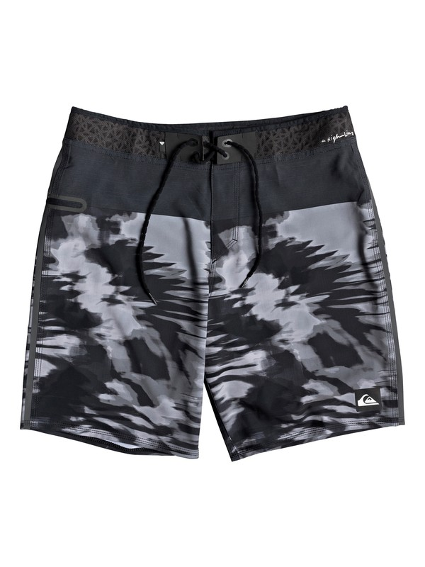"0 Boy's 8-16 Highline Blackout 17"" Boardshorts Black EQBBS03370 Quiksilver"
