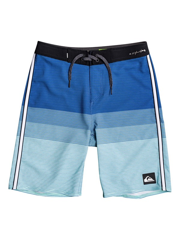 "0 Boy's 8-16 Highline Massive 18"" Boardshorts Blue EQBBS03379 Quiksilver"