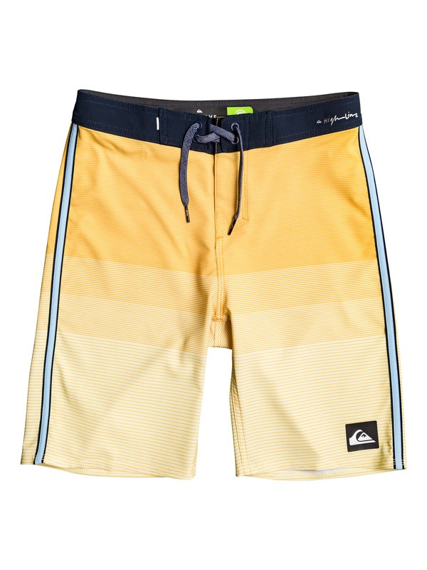 "0 Boy's 8-16 Highline Massive 18"" Boardshorts Yellow EQBBS03379 Quiksilver"