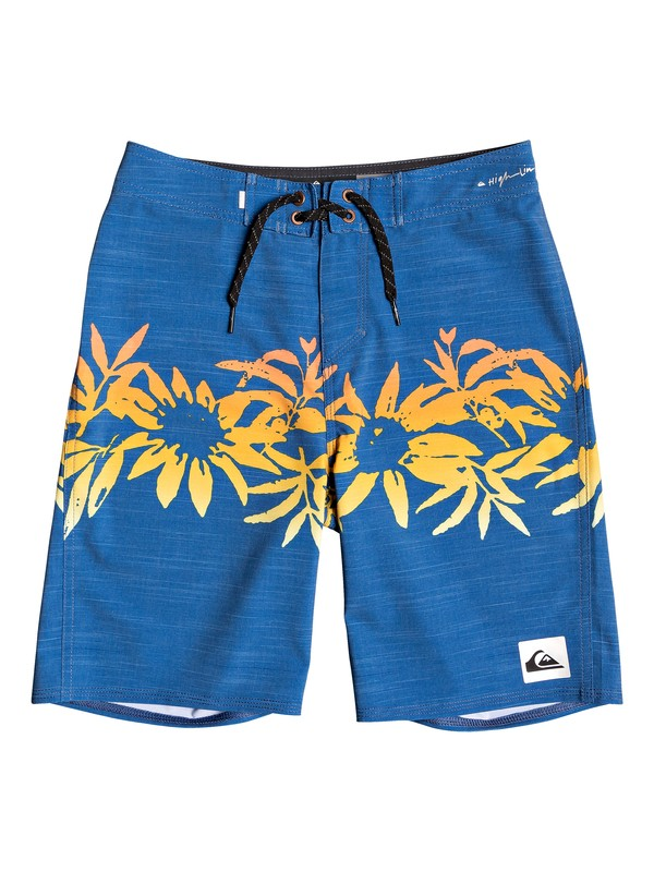 "0 Boy's 8-16 Highline Choppa 18"" Boardshorts Blue EQBBS03381 Quiksilver"
